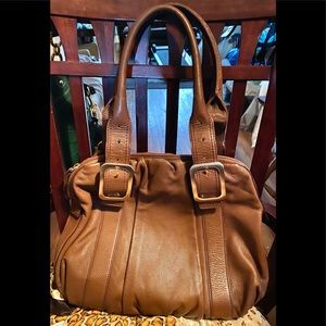 Cole Haan British Tan Brown Leather Satchel